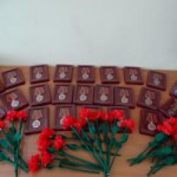 Вручение юбилейных медалей «70 лет Победы в Великой Отечественной войне 1941 -1945 г.г.»